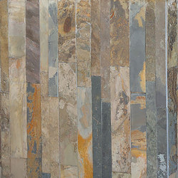 Parallels Cladding - Silver Quartzite | Natural stone mosaics | Island Stone