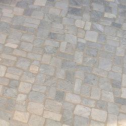 Random Squares - Grey Marble | Naturstein Mosaike | Island Stone