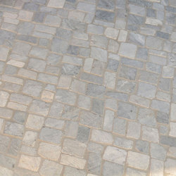 Random Squares - Grey Marble | Natural stone mosaics | Island Stone