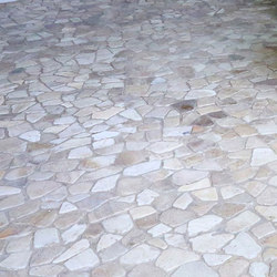 Random Tiles - Latte Quartz | Natural stone mosaics | Island Stone