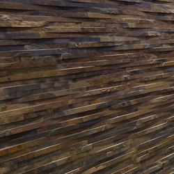 Rustic Cladding - Golden Slate | Mosaïques en pierre naturelle | Island Stone