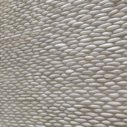 Stacked Pebble - Timor White Pebble Cladding | Mosaïques | Island Stone