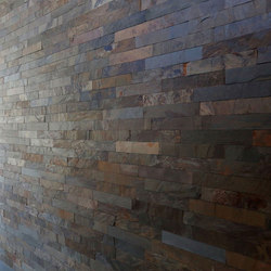 Strip Cladding - Golden Slate Strip Cladding | Baldosas de suelo | Island Stone