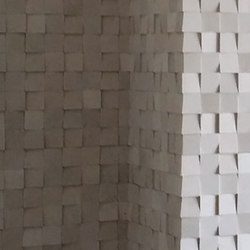 V Squares - Tropical White Cladding | Mosaicos de piedra natural | Island Stone