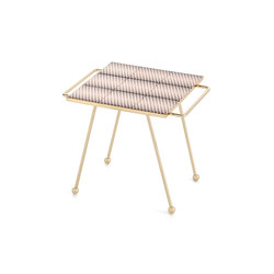 Mix & Match Table Gold black&white | Trays | GAN
