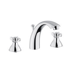 Princess Nouveau | 3 Hole Basin Mixer With Pop-Up Waste | Wash-basin taps | BAGNODESIGN
