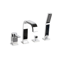 Smooth | 4 Hole Bath Mixer | Bath taps | BAGNODESIGN