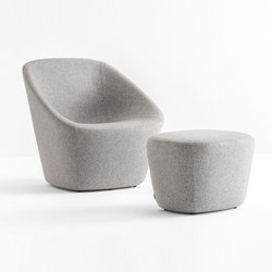 Log 366 | Lounge chairs with footstools | PEDRALI