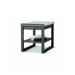 Arris Side Table with Stone Top | Night stands | Altura Furniture