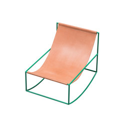 rocking chair | green_leather | Schaukelsessel / -liegen | valerie_objects