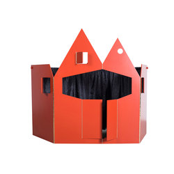 puppet theatre | red | Spielmöbel | valerie_objects