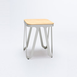 Loop Stool Wood - silk grey/ oak | Tabourets | NEO/CRAFT