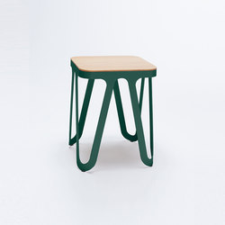 Loop Stool Wood - moss green/ ash natural | Tabourets | NEO/CRAFT