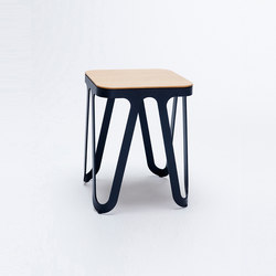 Loop Stool Wood - jet black/ ash natural | Tabourets | NEO/CRAFT