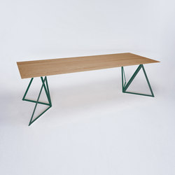 Steel Stand Table - moss green/ oak | Dining tables | NEO/CRAFT