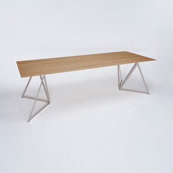 Steel Stand Table - quarzgrau/ eiche | Esstische | NEO/CRAFT