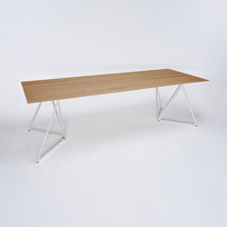 Steel Stand Table - silk grey/ oak | Dining tables | NEO/CRAFT