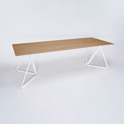 Steel Stand Table - signal white/ oak | Dining tables | NEO/CRAFT