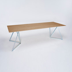 Steel Stand Table - silver galvanisiert/ eiche | Esstische | NEO/CRAFT