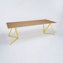 Steel Stand Table - lemon yellow/ oak | Tables de repas | NEO/CRAFT