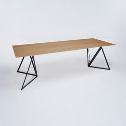 Steel Stand Table - jet black/ oak | Dining tables | NEO/CRAFT