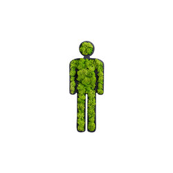"pictogram | toilet sign ""man"" 25 cm 