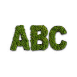 pictogram | letter with moss | Symbols / Signs | styleGREEN