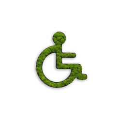 "pictogram | toilet sign ""wheelchair"" 25 cm 