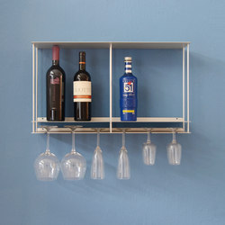 Cantinetta glasses and bottles holder | Wall shelves | Kriptonite