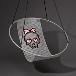 Cross Stitch embroidery hanging swing chair | Armchairs | Studio Stirling