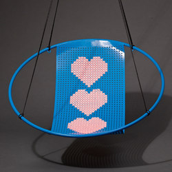 Cross Stitch embroidery hanging swing chair | Poltrone | Studio Stirling