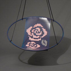 Cross Stitch embroidery hanging swing chair | Sessel | Studio Stirling