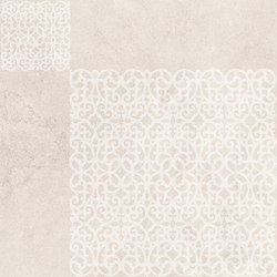 Petra Arabesco Rosone Lappato White | Carrelage céramique | EMILGROUP