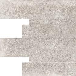 Petra Listelli Sfalsati Grey | Ceramic mosaics | EMILGROUP