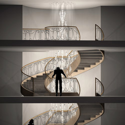 Balance Bespoke Staircase | Chandeliers | Windfall