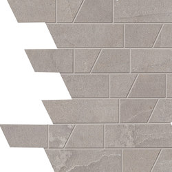 Stone Box Muretto Bright Grey | Ceramic mosaics | EMILGROUP