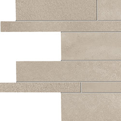 Tr3nd Listelli sfalsati Sand | Mosaïques céramique | EMILGROUP