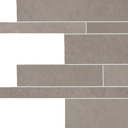 Tr3nd Listelli sfalsati Smoke | Ceramic mosaics | EMILGROUP