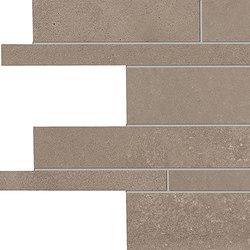 Tr3nd Listelli sfalsati Taupe | Ceramic mosaics | EMILGROUP
