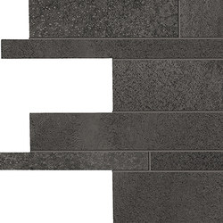 Tr3nd Listelli sfalsati Black | Ceramic mosaics | EMILGROUP