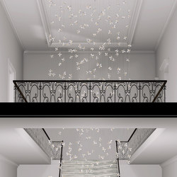 Flower Bespoke Staircase | Chandeliers | Windfall