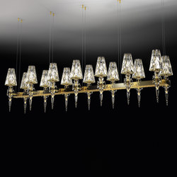 Lula 14 square | Ceiling suspended chandeliers | Windfall