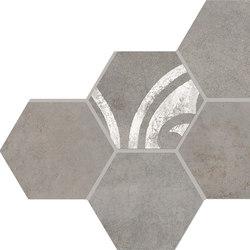 Inessence Esagona Grigio | Ceramic mosaics | EMILGROUP
