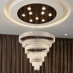 Swirl Round 110x100 Ceiling Suspended Chandeliers Windfall