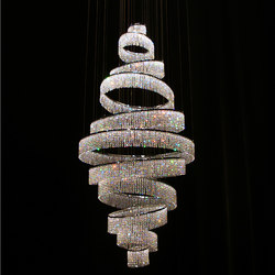 Swirl Round Double 90x200 | Chandeliers | Windfall