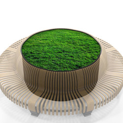 Radius Planter Divider Circle | Privacy screen | Green Furniture Concept