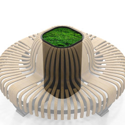 Radius Planter Divider Donut | Space dividing systems | Green Furniture Concept