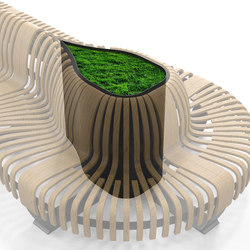Radius Planter Divider Droplet | Space dividing systems | Green Furniture Concept