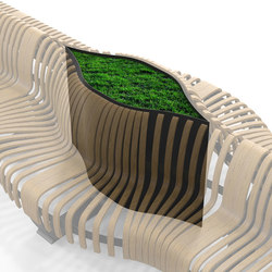 Radius Planter Divider Eye | Raumteilsysteme | Green Furniture Concept