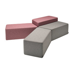 Amphi | seat | Modular seating elements | Isku